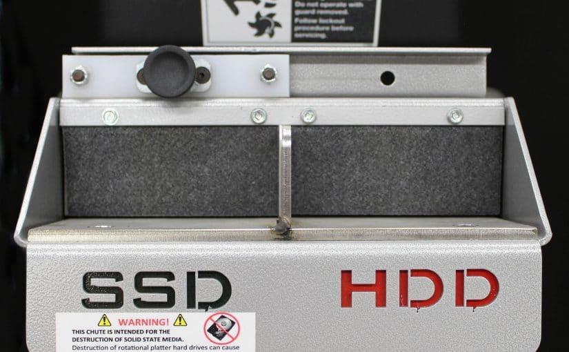 Sliding Chute Block for 0305 HDD/SSD Combo Shredder