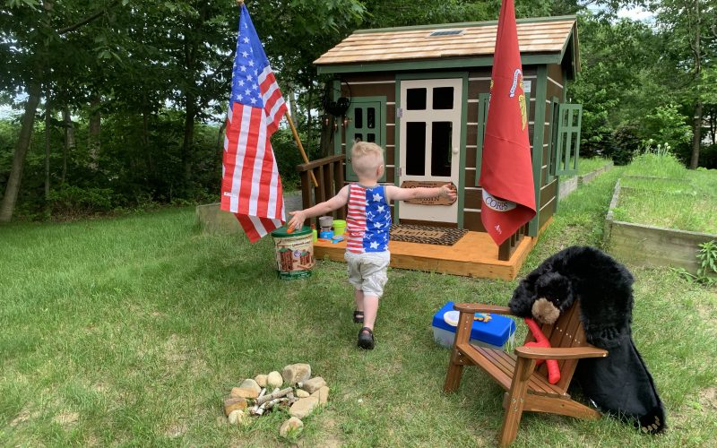 Security Engineered Machinery Gives Back to Veteran Marine Family by Building Log Cabin Playhouse