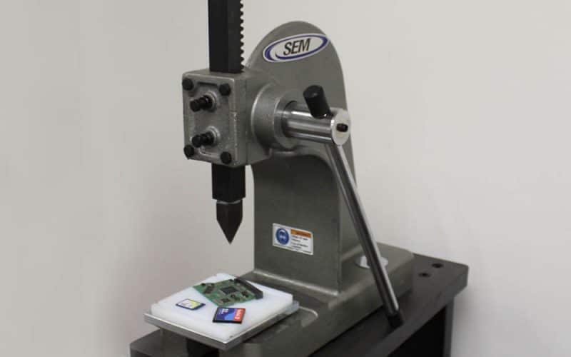 Security Engineered Machinery Introduces Manual Crusher for Both HDDs and SSDs